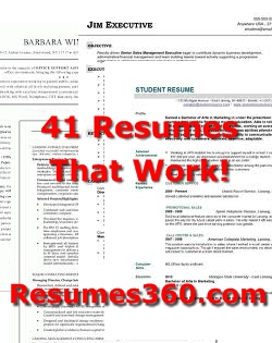 41 Resumes That Work